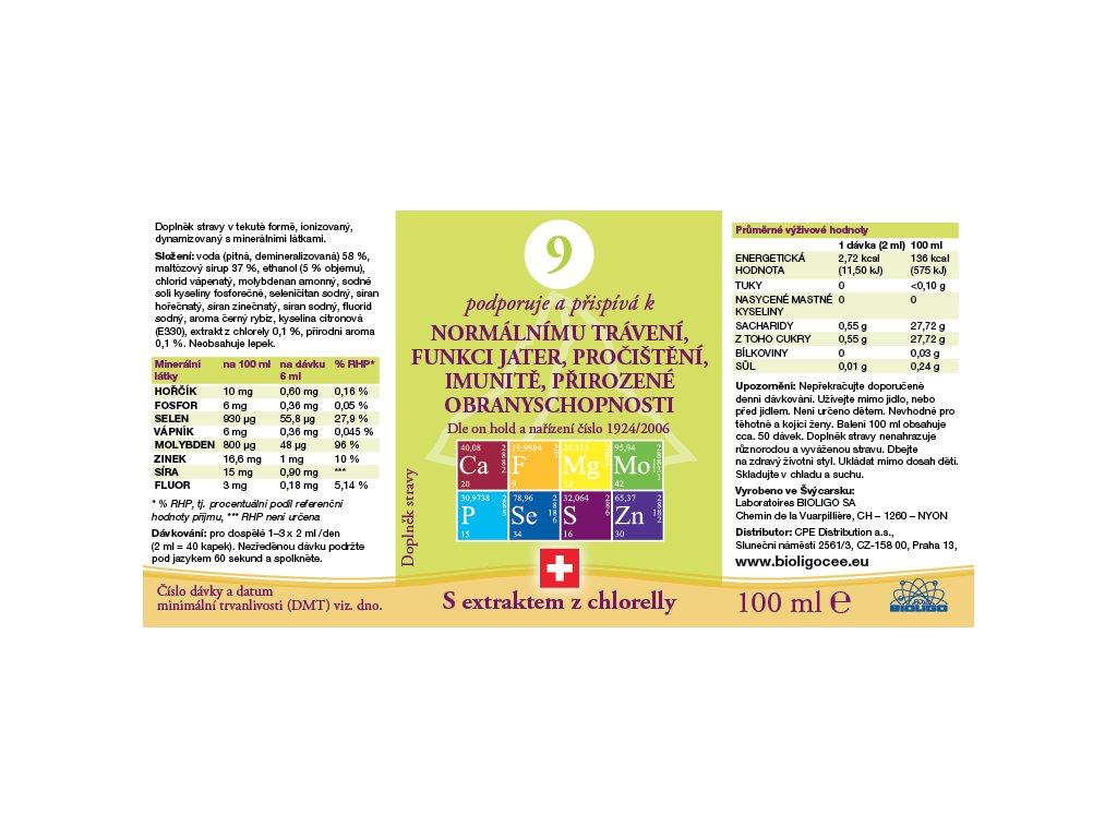 9 ROZTOK BIOLIGO - trávení, játra, pročištění, obranyschopnost