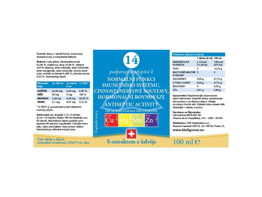 14 ROZTOK BIOLIGO - imunita, nervová soustava, hormonální rovnováha