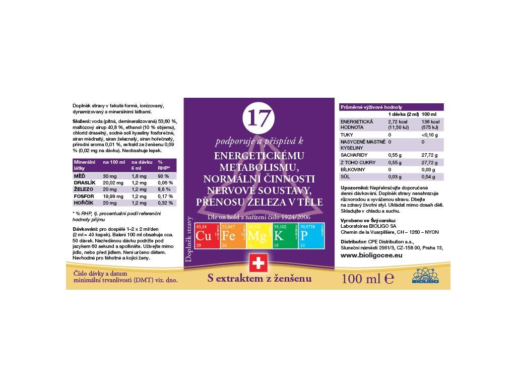 17 ROZTOK BIOLIGO - energetický metabolismus, nervová soustava, přenos železa