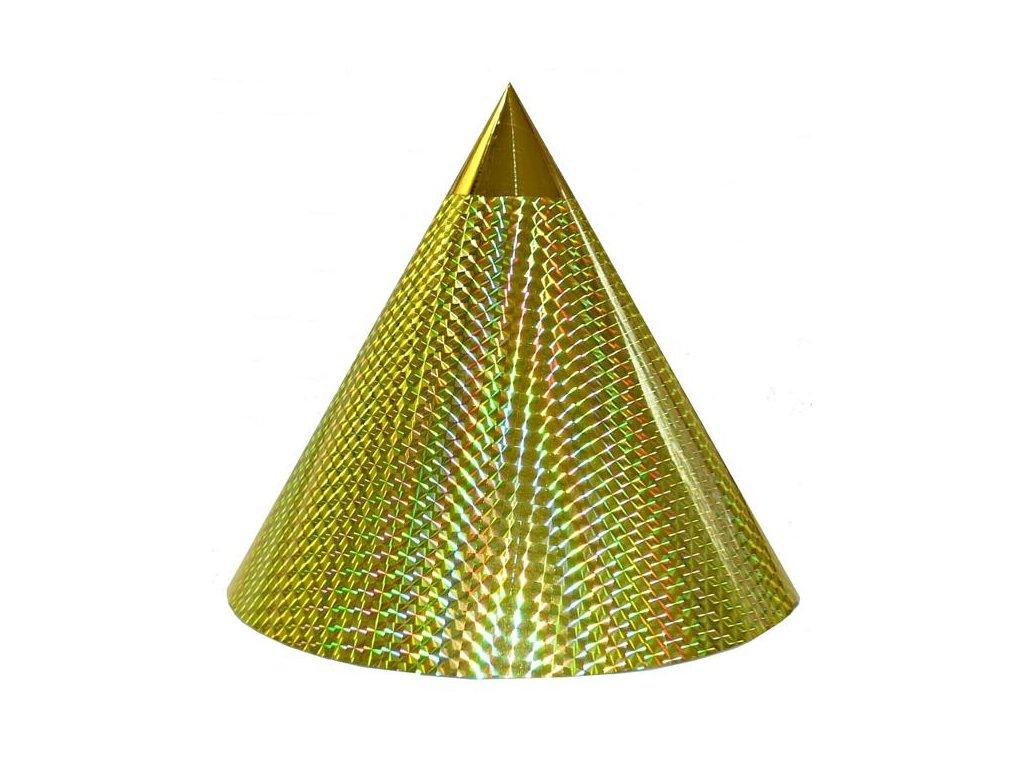Kuželová pyramida (30 cm) - žlutá čtverečky