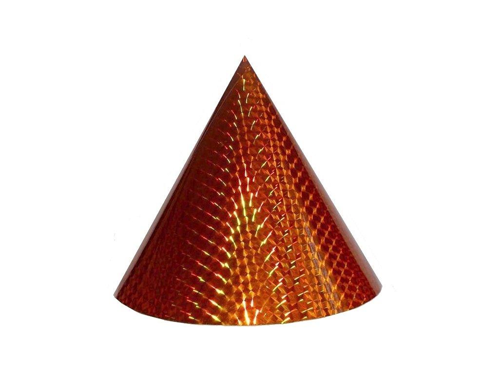 Kuželová pyramida velká (50 cm) - oranžová čtverečky