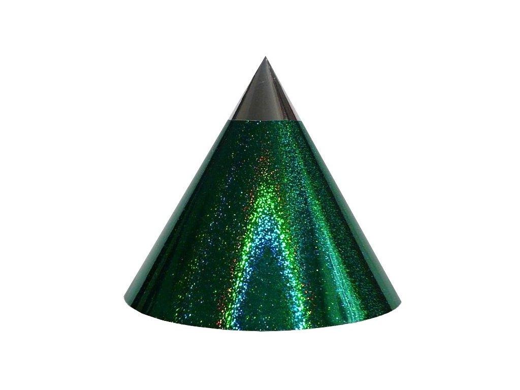 Kuželová pyramida (22 cm) - zelená tečky