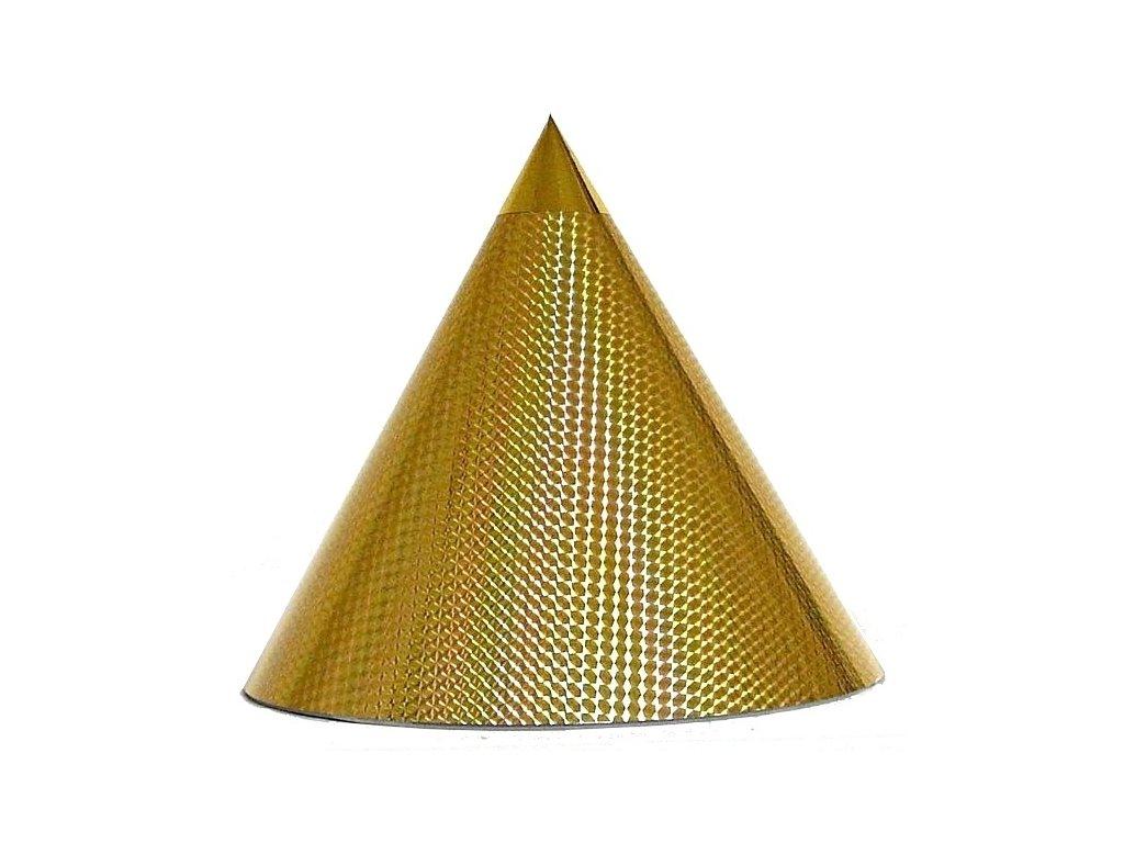 Kuželová pyramida (30 cm) - zlatá čtverečky
