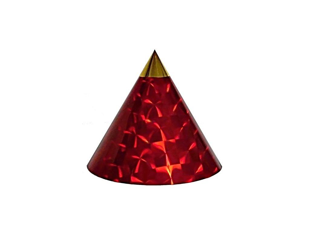 Kuželová pyramida (45 cm) - červená čtverce