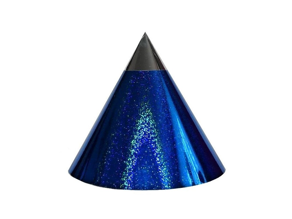 Kuželová pyramida (11 cm) - tmavě modrá tečky