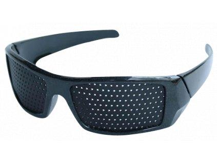 Děrované brýle černé - Elegant