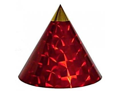 Kuželová pyramida (22 cm) - červená čtverce