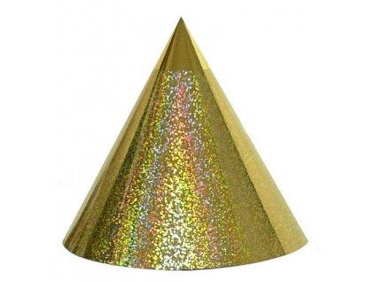 Kuželová pyramida (22 cm) - zlaté tečky