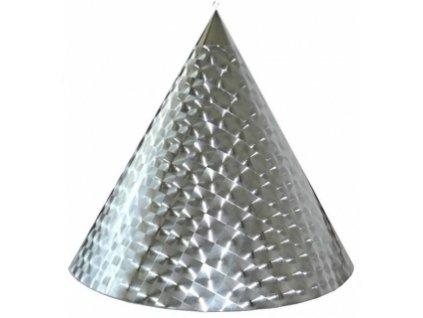 Kuželová pyramida (50 cm) - stříbrná-čtverce