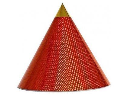 Kuželová pyramida (60 cm) - oranžová-malé čtverečky