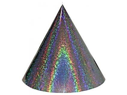 Kuželová pyramida (70 cm) - stříbrná extra tečky