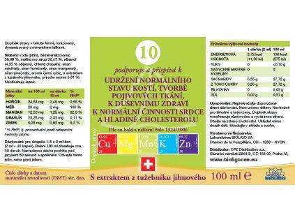 10 ROZTOK BIOLIGO - stav pojivové tkáně, srdce, cholesterol