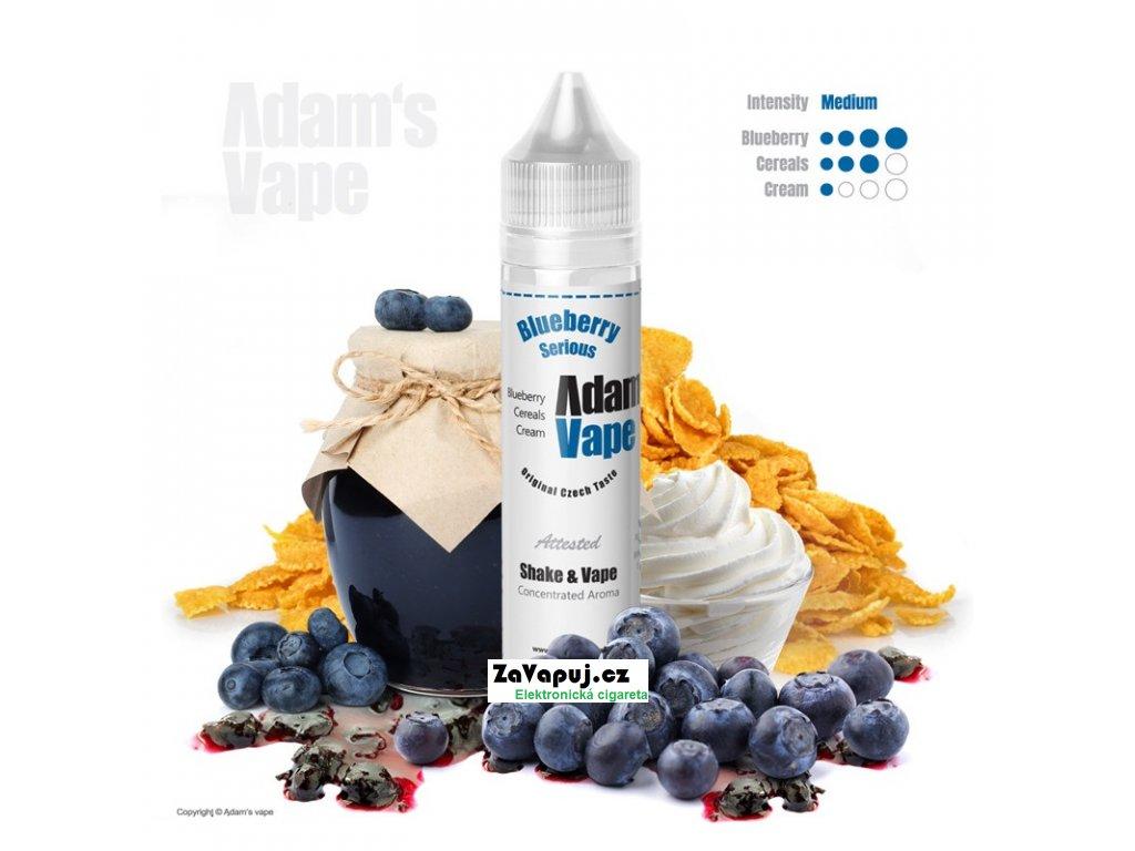 Příchuť Adams vape S&V Blueberry Serious (Borůvkové cereálie s krémem) 12ml