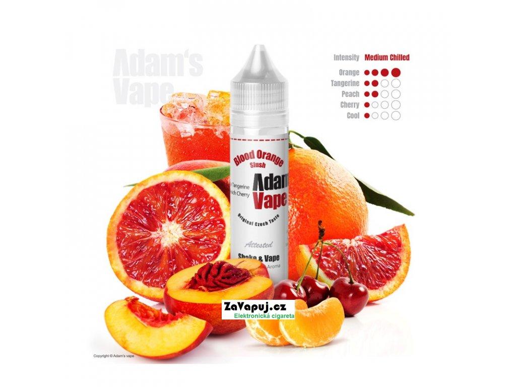 Příchuť Adams vape S&V Blood Orange Slush (Ledová tříšť s červeným pomerančem) 12ml
