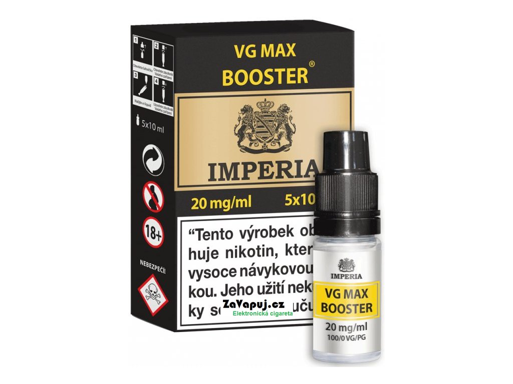 Booster báze Imperia VG Max (0PG/100VG): 5x10ml / 20mg