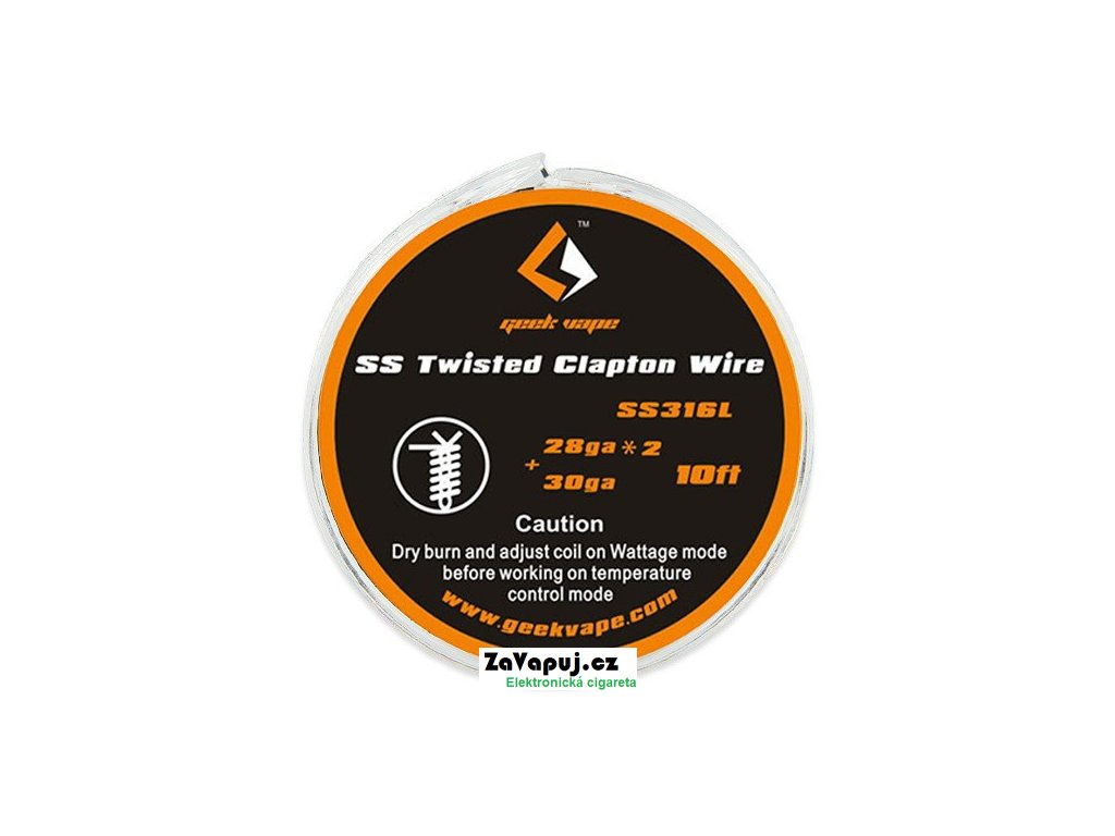 Twisted Clapton SS316 odporový drát 2x 28GA + 30GA (3m) GeekVape
