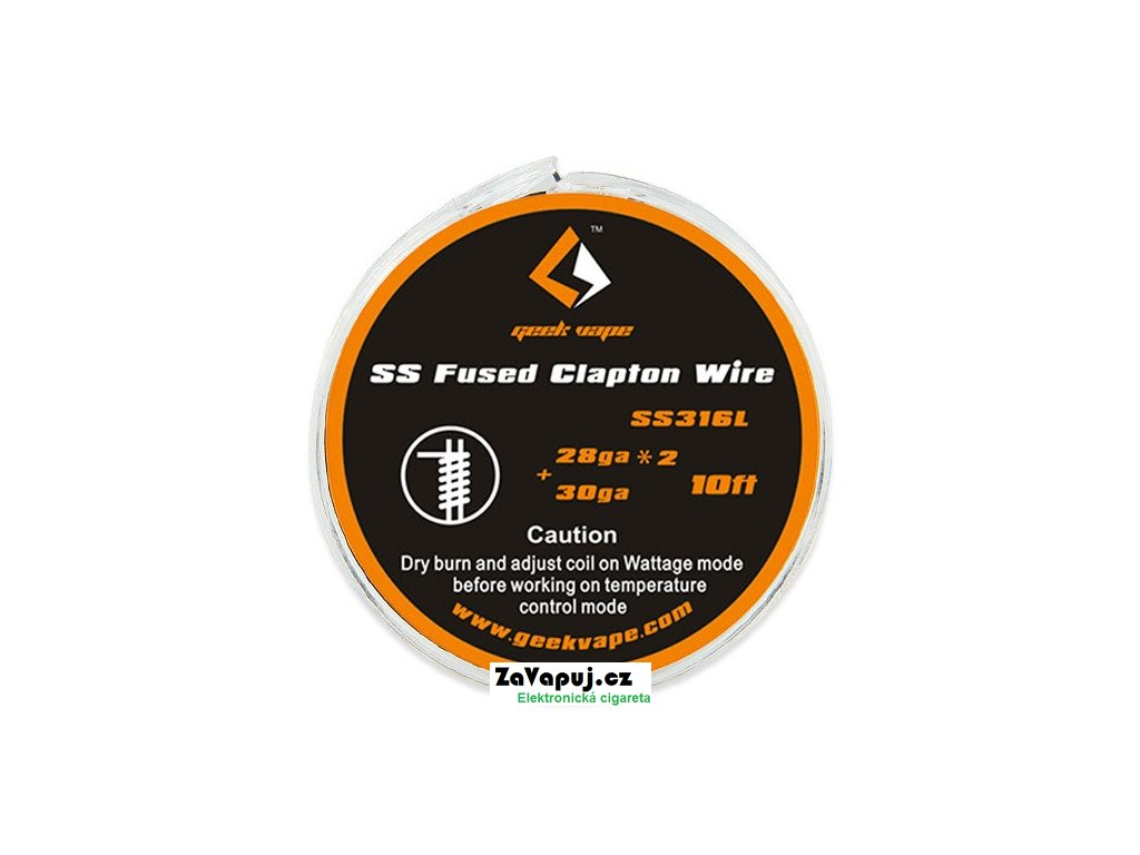 Fused Clapton SS316 odporový drát 2x 28GA + 30GA (3m) GeekVape