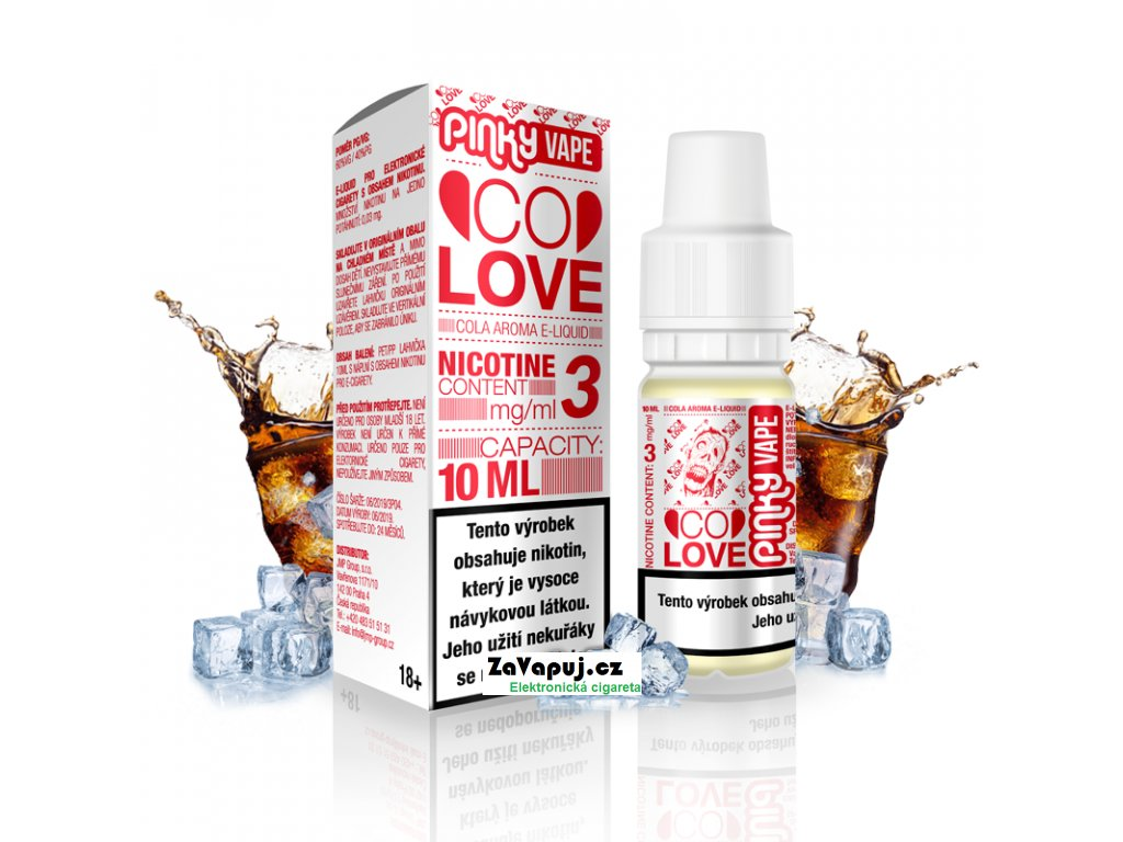 PinkyVape eliquid 10ml Co Love