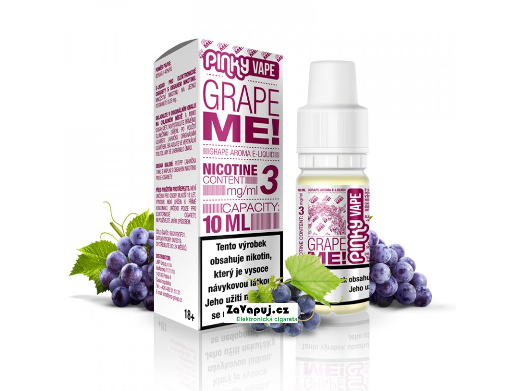 PinkyVape eliquid 10ml Grape Me