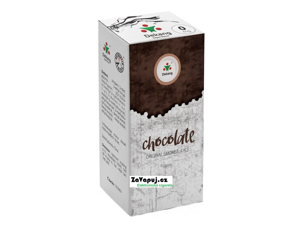 Liquid Dekang Chocolate 10ml-0mg (Čokoláda)