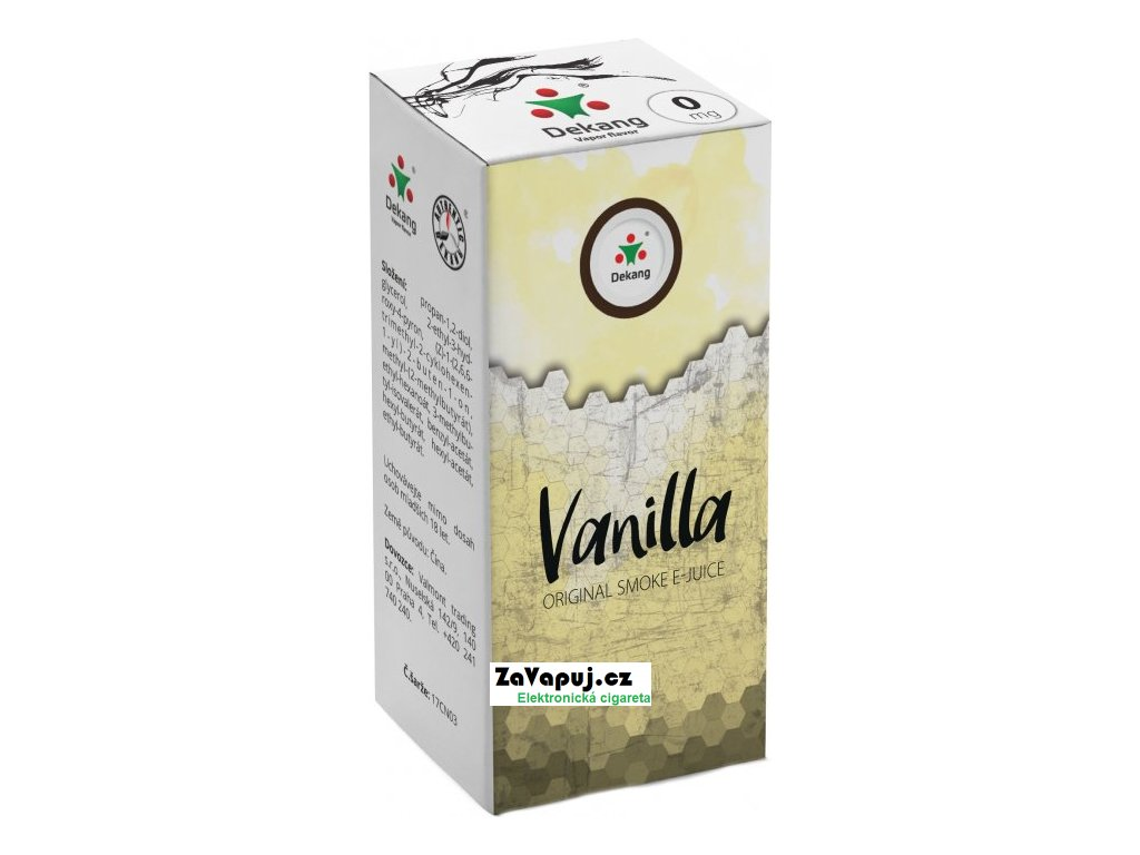 Liquid Dekang Vanilla 10ml - 0mg (Vanilka)