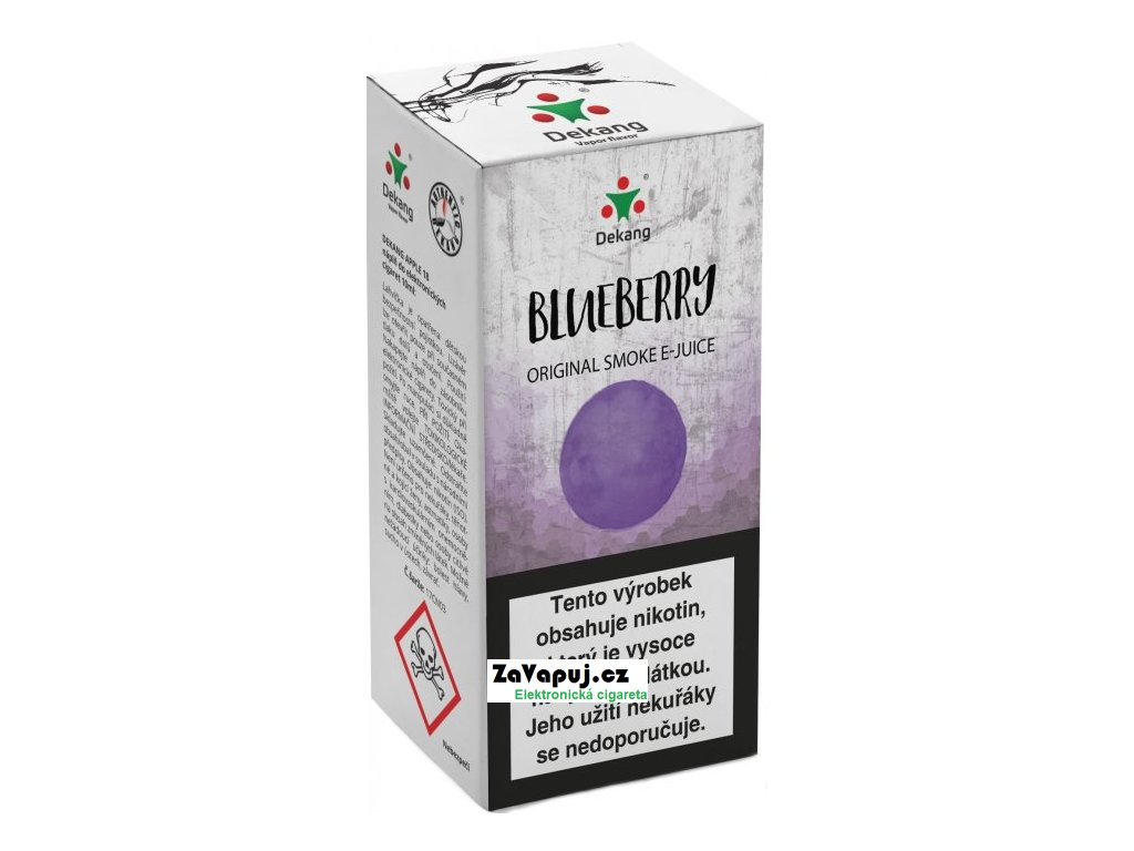 Liquid Dekang Blueberry 10ml - 6mg (Borůvka)