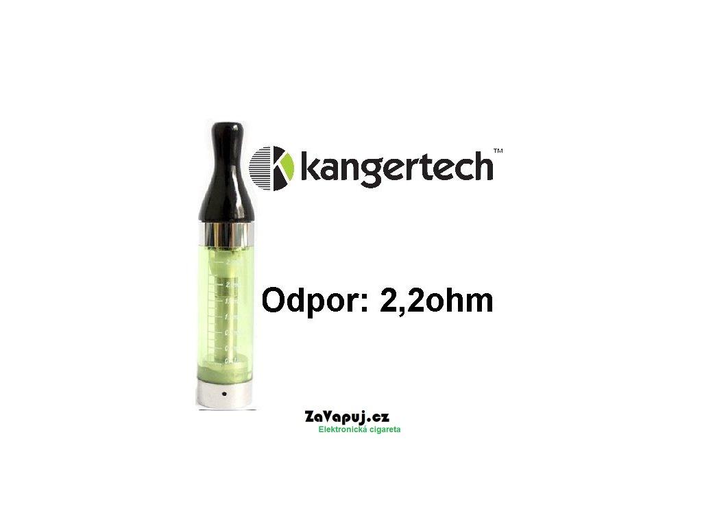 Clearomizér Kangertech CC/T2 2,4ml 2,2ohm Zelený