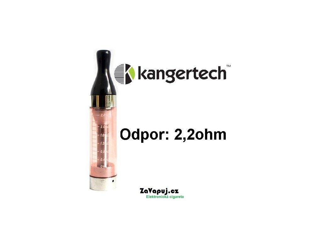 Clearomizér Kangertech CC/T2 2,4ml 2,2ohm Červený
