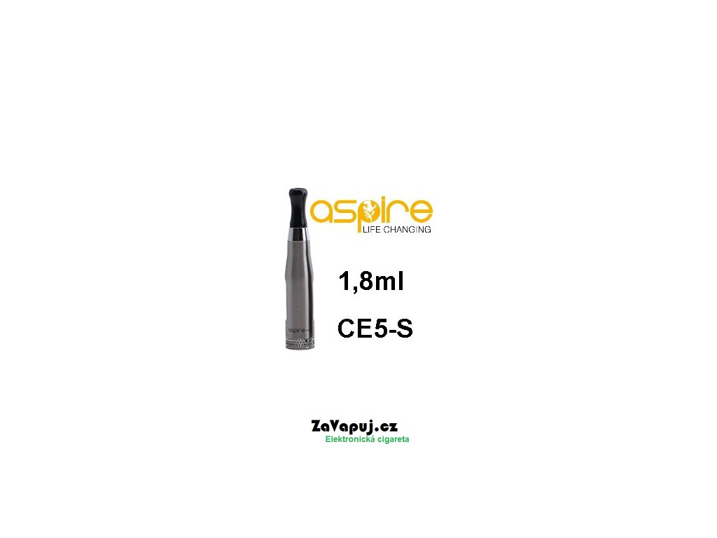 Clearomizér aSpire CE5-S BDC 1,8ohm 1,8ml Stříbrný