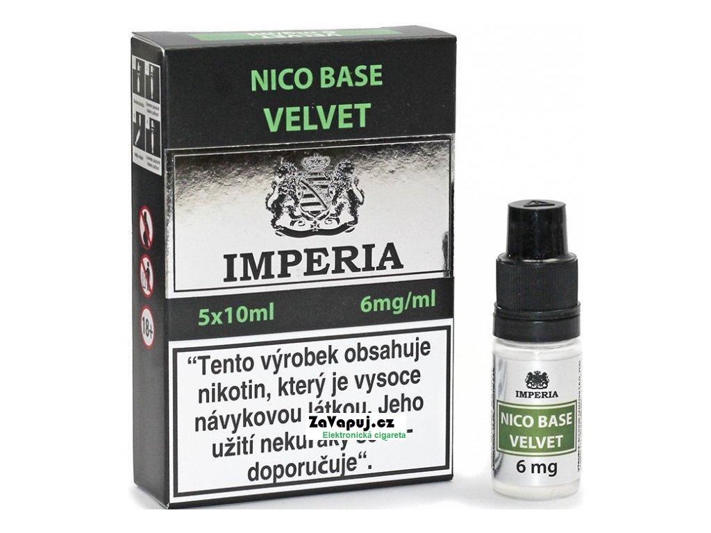 Nikotinová báze CZ IMPERIA Velvet 5x10ml PG20-VG80 6mg