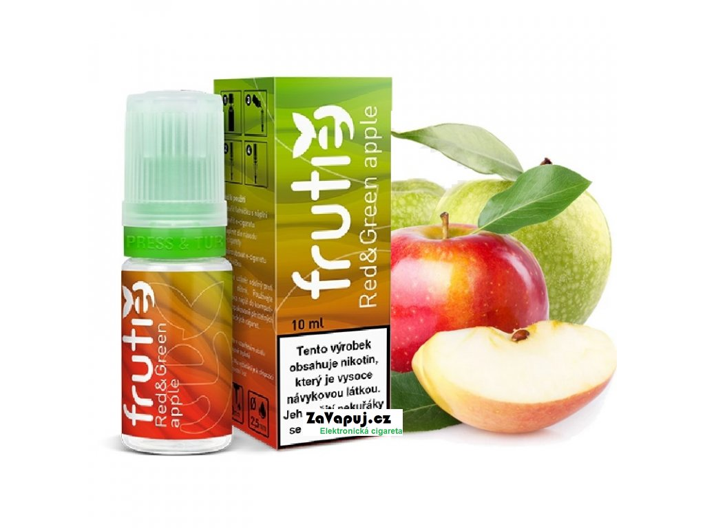 frutie jablko red and green apple