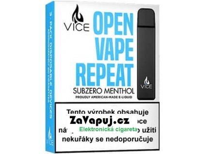 Elektronická cigareta VICE Subzero Menthol 20mg 3Pack