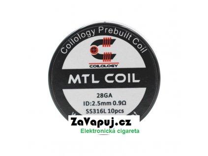 Předmotané spirálky Coilology MTL Series MTL SS316L (0,9ohm) (10ks)