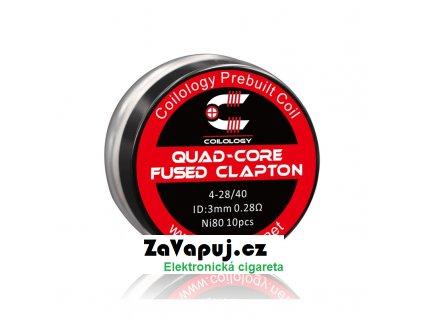 Předmotané spirálky Coilology Quad Core Fused Clapton Ni80 (0,28ohm) (10ks)