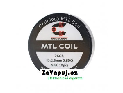 Předmotané spirálky Coilology MTL Series MTL Ni80 0,6ohm 10ks