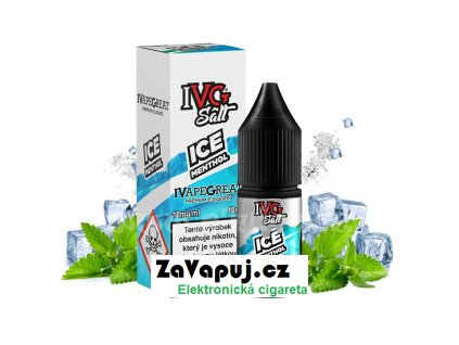 E liquid IVG Salt 10ml 10mg Ice Menthol (Ledový mentol)