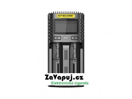 Multifunkční USB nabíječka baterií Nitecore UMS2 LCD (2 sloty)