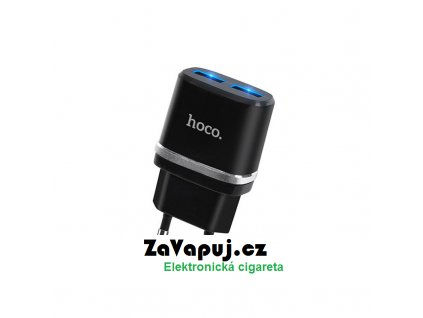 Nabíjecí adaptér do sítě Hoco C12 Dual USB (5V 2,4A) Černý