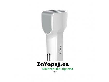 Autoadaptér Hoco Z23 Dual Port 12V 24V Bílý