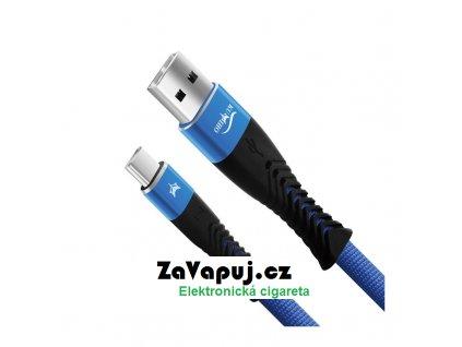 Dobíjecí kabel Kumiho K 2 USB C 2,4A Černo modrý