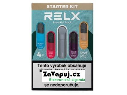 Elektronická cigareta RELX Essential 350mAh Startovací sada Černá