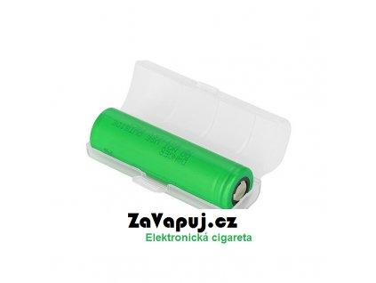 Plastové ochranné pouzdro pro baterii 18650 1ks Mléčné