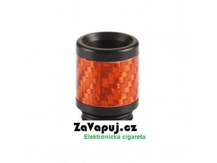 Resinový náustek 810 s karbonem (Oranžový)