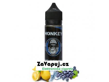 Příchuť Monkey Shake & Vape: Blue Lemon Ball (Borůvky a ledový citron) 12ml