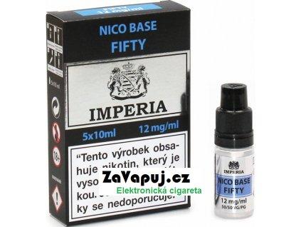 Nikotinová báze CZ IMPERIA 5x10ml PG50-VG50 12mg