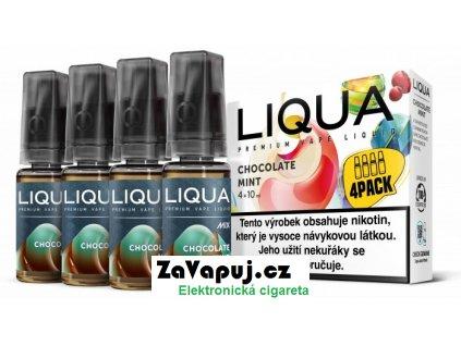Liquid LIQUA CZ MIX 4Pack Chocolate Mint 10ml-3mg