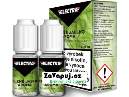Liquid ELECTRA 2Pack Green apple 2x10ml - 0mg (Zelené jablko)