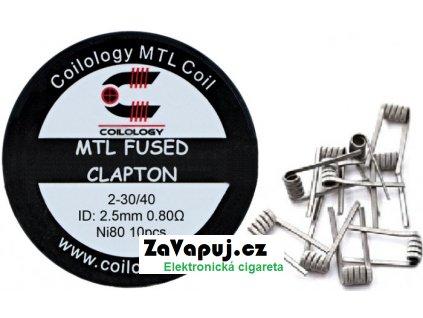 Coilology MTL Fused Clapton předmotané spirálky Ni80 0,8ohm 10ks