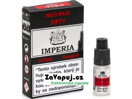 Nikotinová báze CZ IMPERIA 5x10ml PG50-VG50 18mg