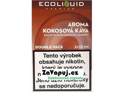 Liquid Ecoliquid Premium 2Pack Coconut Coffee 2x10ml - 20mg